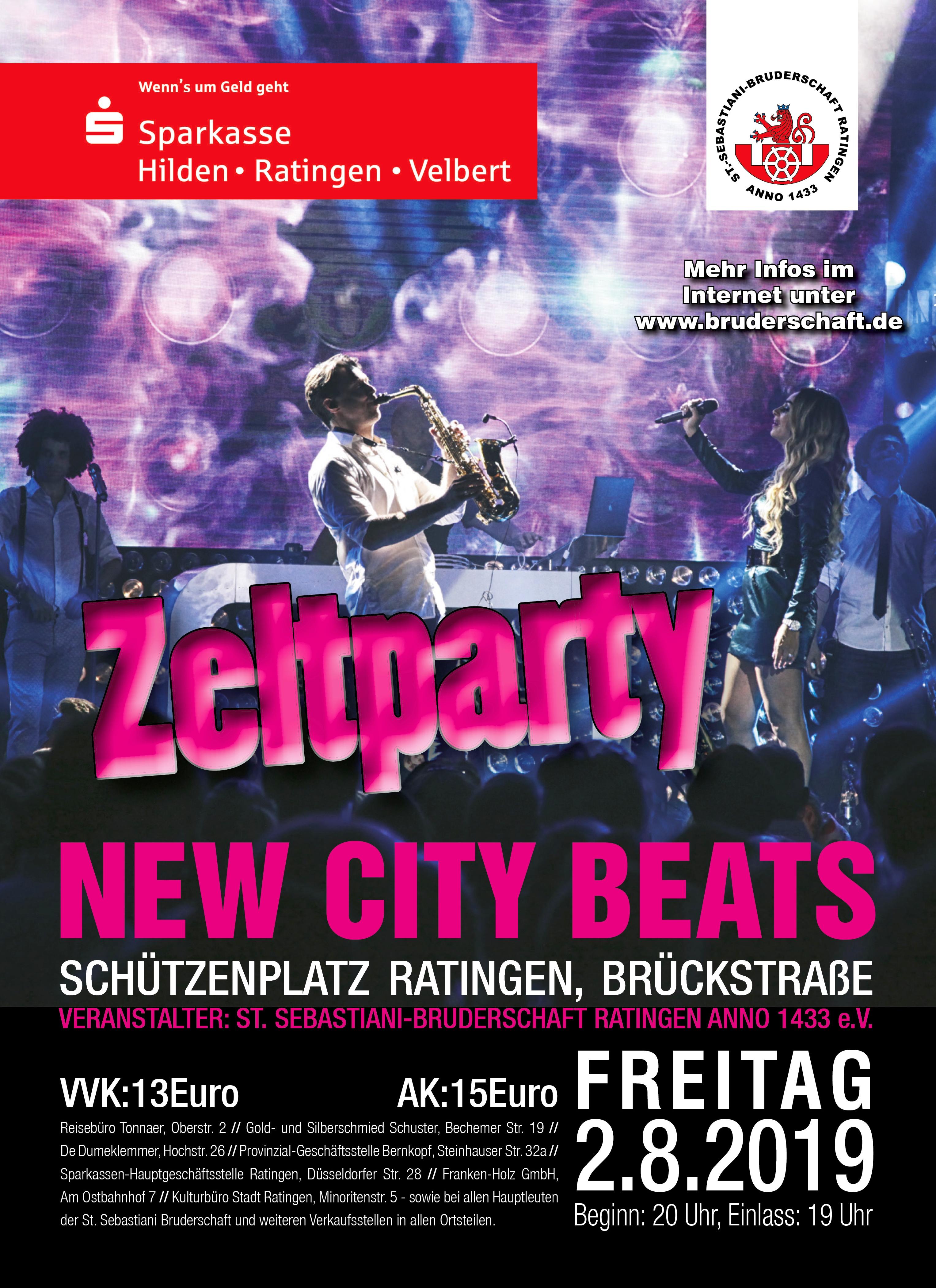 Plakat Zeltparty 2019